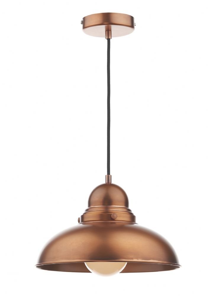 Dynamo 1 Light Pendant Antique Copper (Class 2 Double Insulated) BXDYN0164-17
